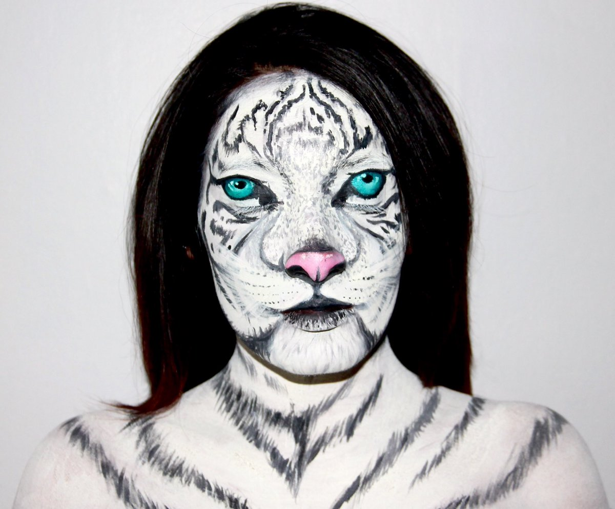 White tiger halloween makeup famous tiger 2017 white tiger makeup tutorial baditri Image collections