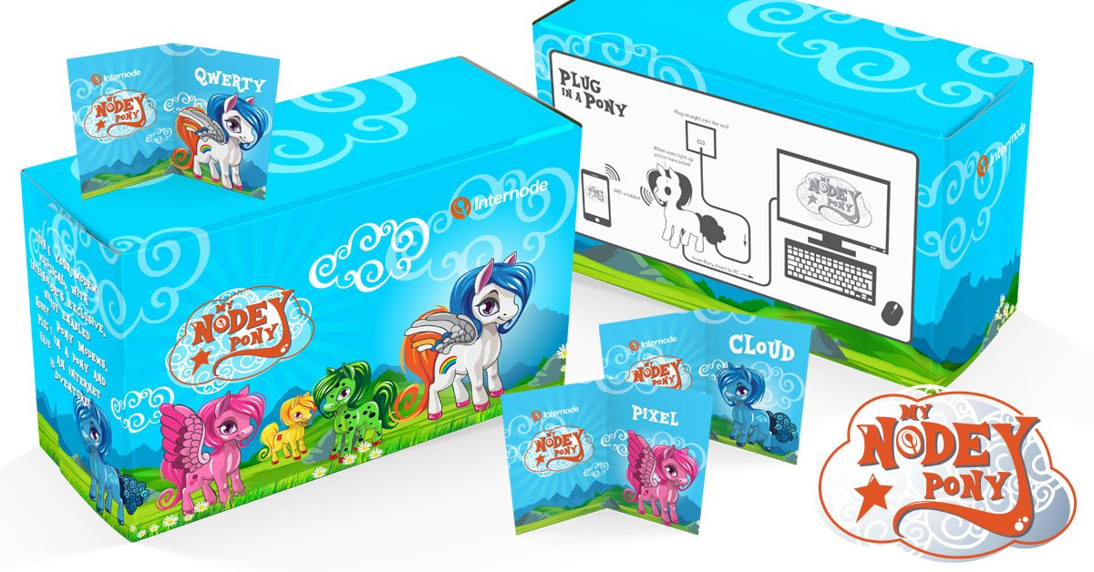 We're producing a line of special edition Node Ponies called My Nodey Pony. Check them out: https://t.co/ZcnmD13hmq https://t.co/Dj0DbRFqZ7