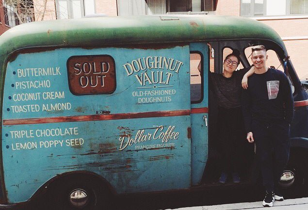 After months of winter hibernation, the one and only #VaultVan will hit the streets tomorrow. #doughnutseason https://t.co/jVVmxklQjU