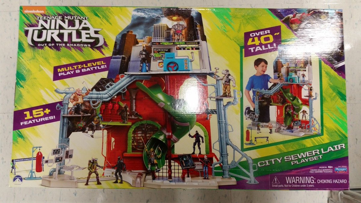tmnt city sewer lair playset instructions