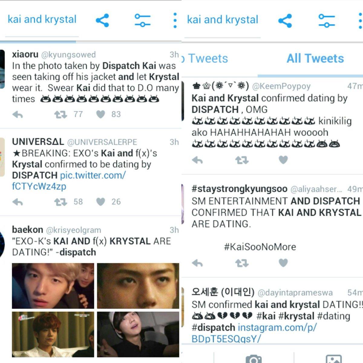 K-Pop idols, Krystal and Kai (a.k.a.