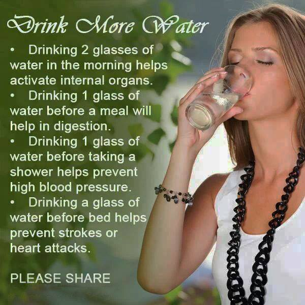 Drink plenty of #Water and Prevent urinary infection & stones. #HealthyLiving