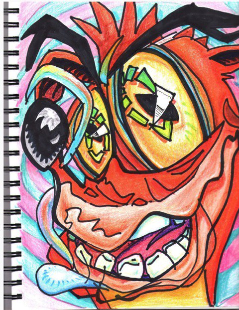 Crash Bandicoot Drawing