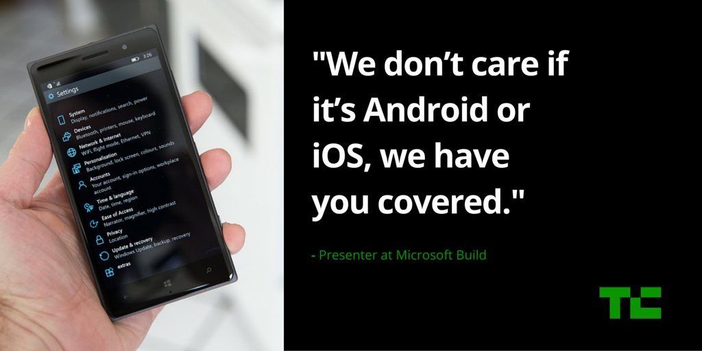 Even Microsoft's own presenters have given up on Windows Phone