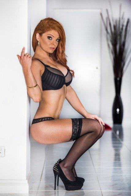 Girl redhead lingerie models think older