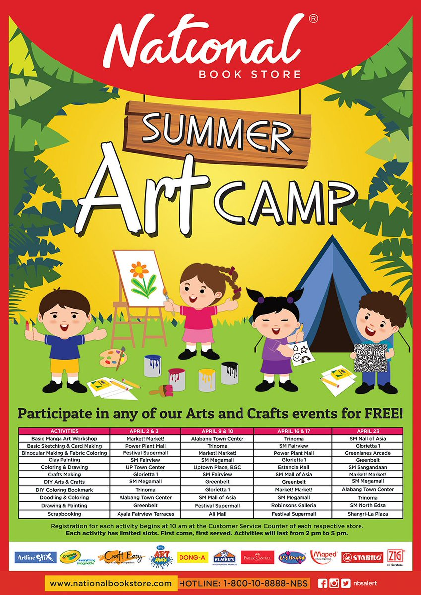 National Book Store On Twitter NBSevents Learn Create And Discover This Summer At The NBS Art Camp Tco C4Wcd7lsh3