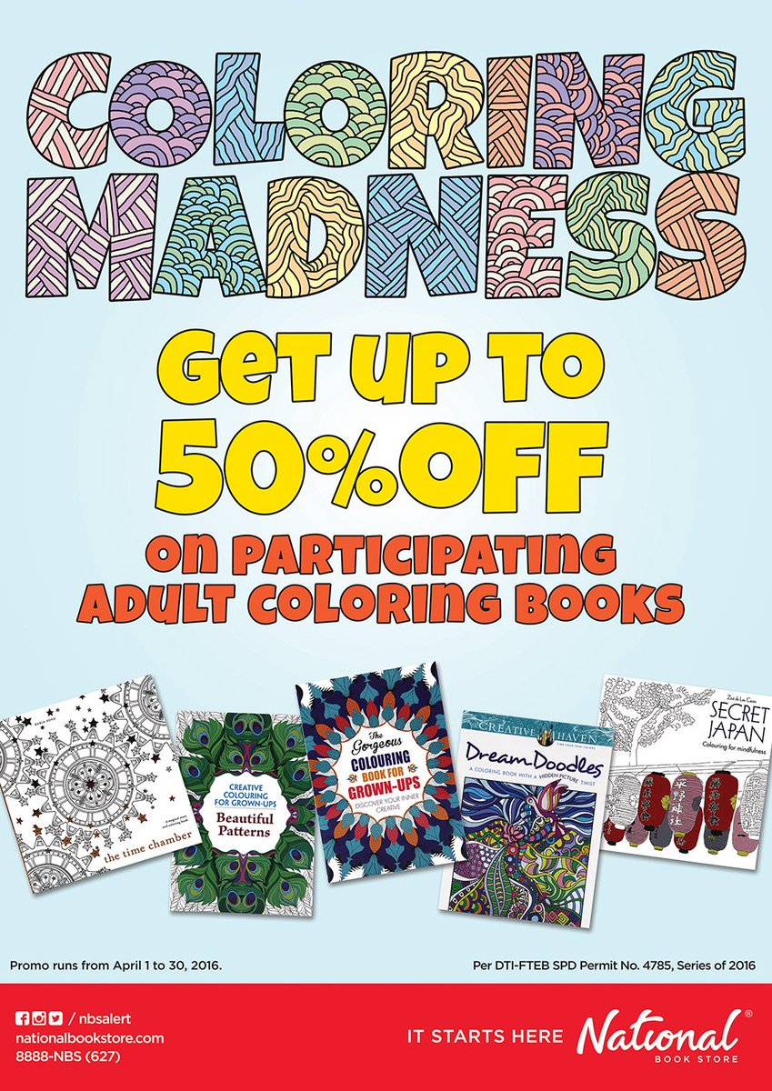 National Book Store On Twitter NBSpromo Make This Your Most Colorful And Creative Summer With NBS Coloring Madness Tco LsAvUcR24j