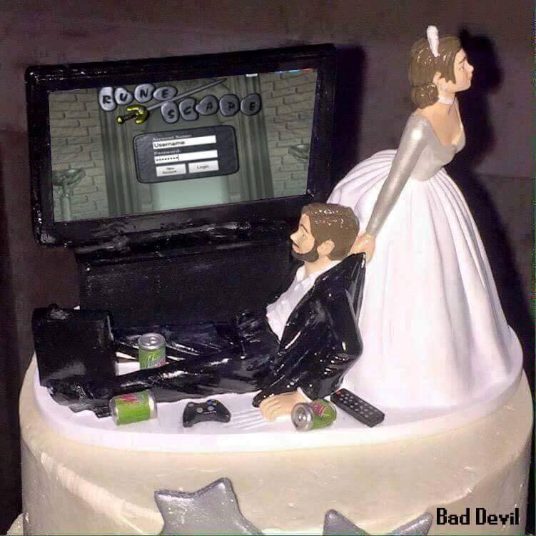 Runescape On Twitter Best Wedding Cake Ever Https T Co Qcreqm2zky