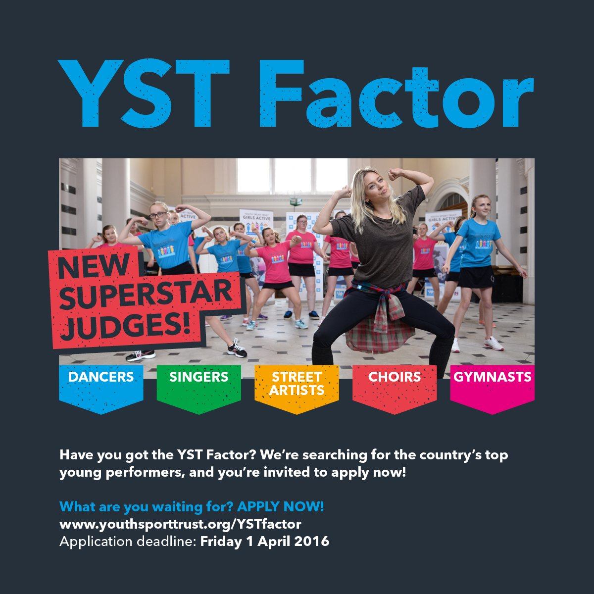 RT @YouthSportTrust: Know a talented young person? This is their big opportunity - #YSTFactor is back: https://t.co/N7ZTYw4721 https://t.co…