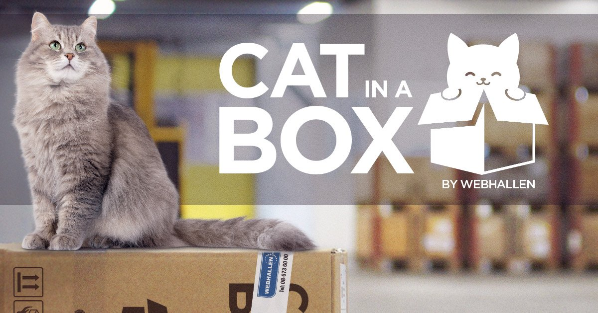 Webhallen presenterar Cat in a Box, ett revolutionerande samarbete med lokala katthem!  https://t.co/OtanzfvpGf https://t.co/4fDdsGaF8N