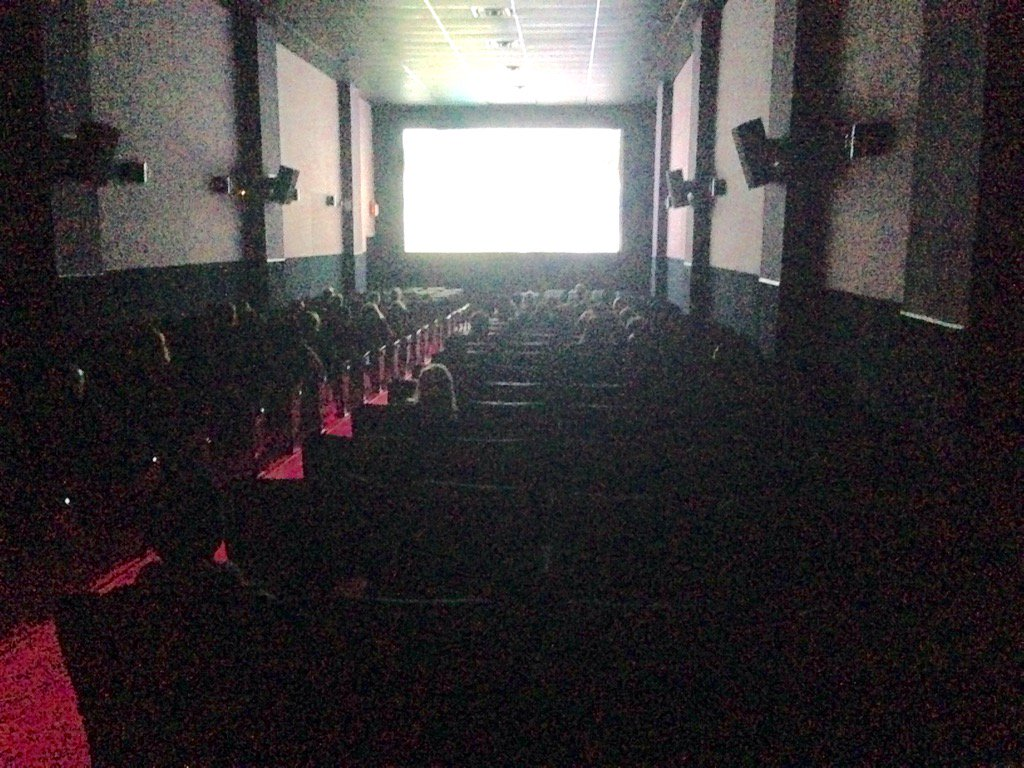 Vaxxed premiere has begun. Not a huge crowd here. https://t.co/idrLx20LqQ