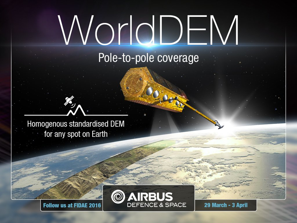 Airbus Defence в Twitter WorldDEM Superior Elevation - Worlddem