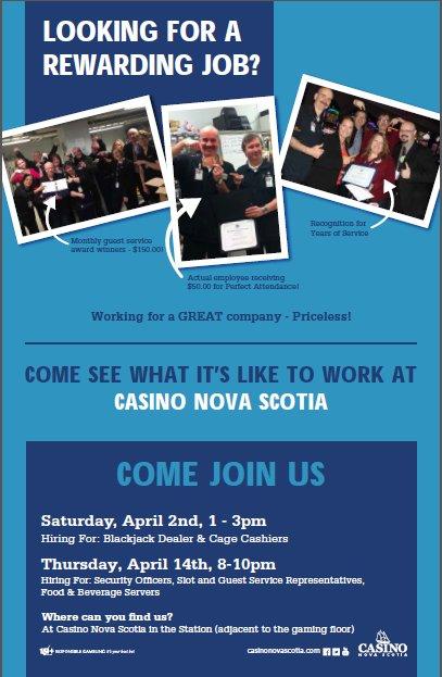 Casino nova scotia jobs gambling gambling guide king