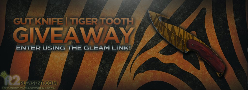 gut knife tiger tooth factory new giveaway by r2pleasent com