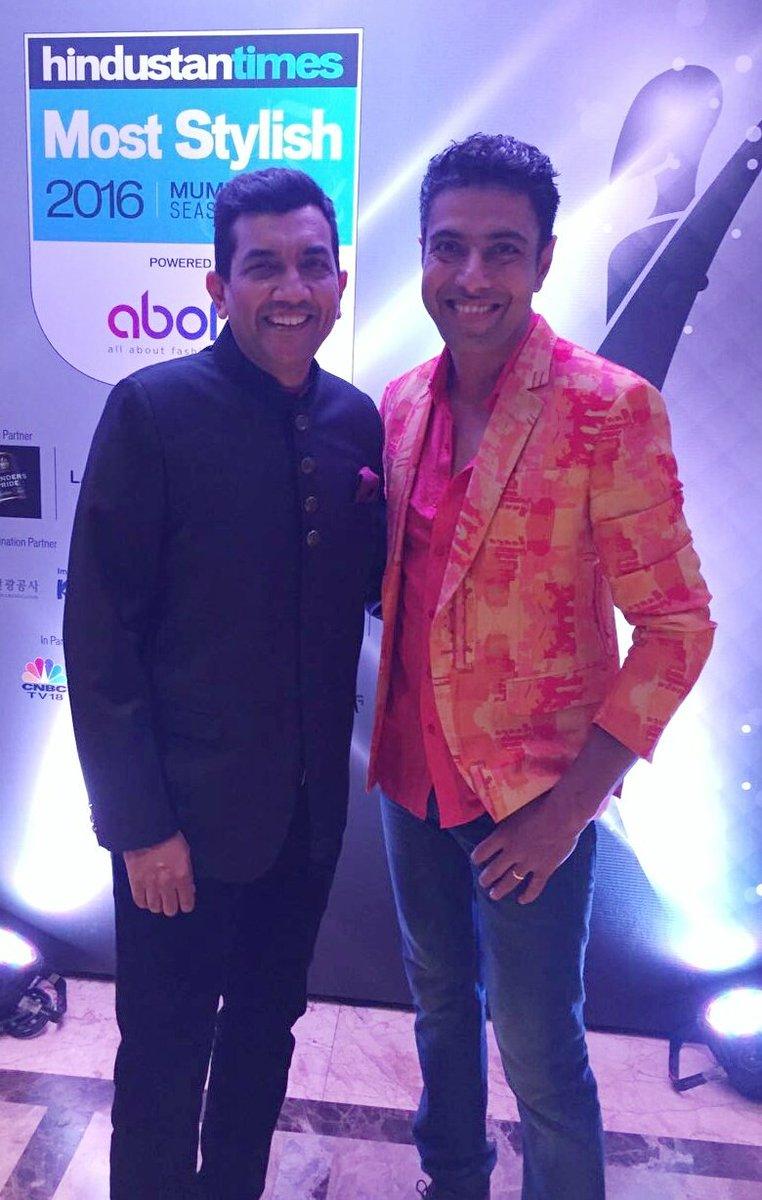 Masterchefs Sanjeev Kapoor and Ranveer Brar at HT Most Stylist 2016