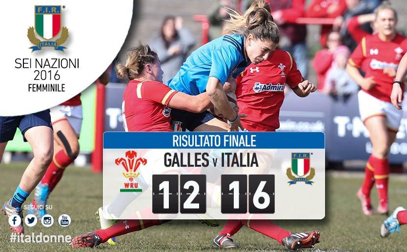 Galles Italia Sei Nazioni femminile 2016