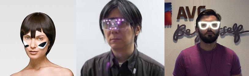 顔認識を防止する技術の例