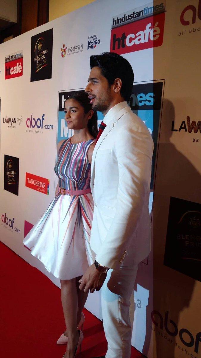 Sidharth Malhotra and Alia Bhatt at HT Most Stylist Awards 2016
