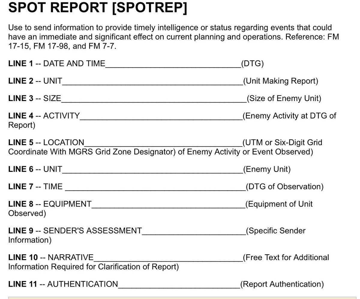 Fill Out A 9 Line Eh Spot Report