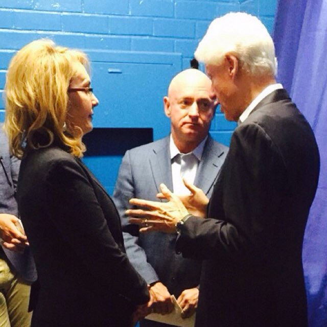 Awesome to welcome @billclinton back to #Tucson to talk about why we're with @HillaryClinton! Next stop: Phoenix!