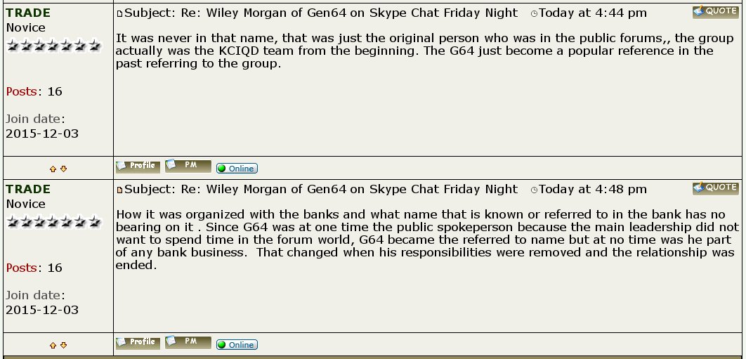 Wiley Morgan of Gen64 on Skype Chat Friday Night ~  Updated 6/10  - Page 3 CeB52r7VAAAk1eV