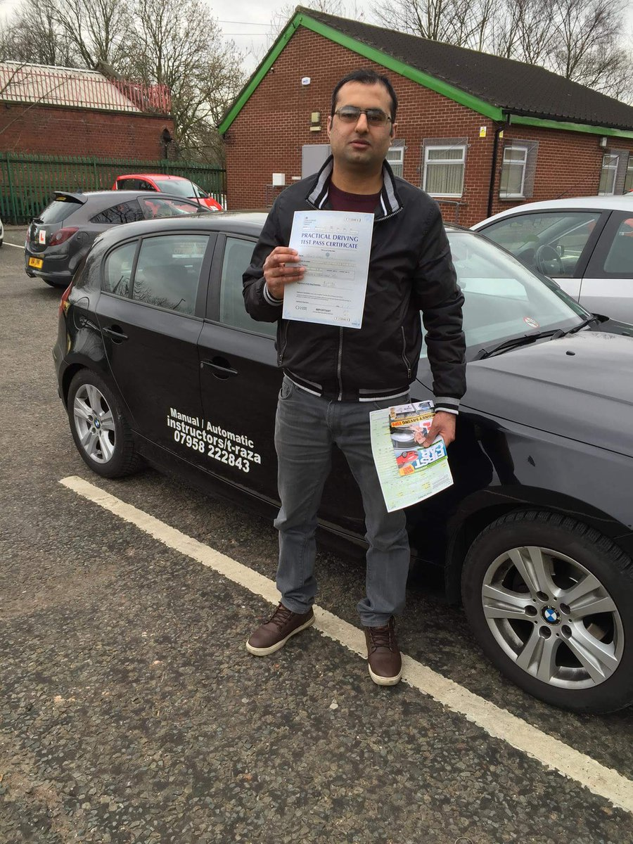 Congratulations Atif for passing today #cheethamhilldrivingtestcentre #automaticdrivinglesson.com