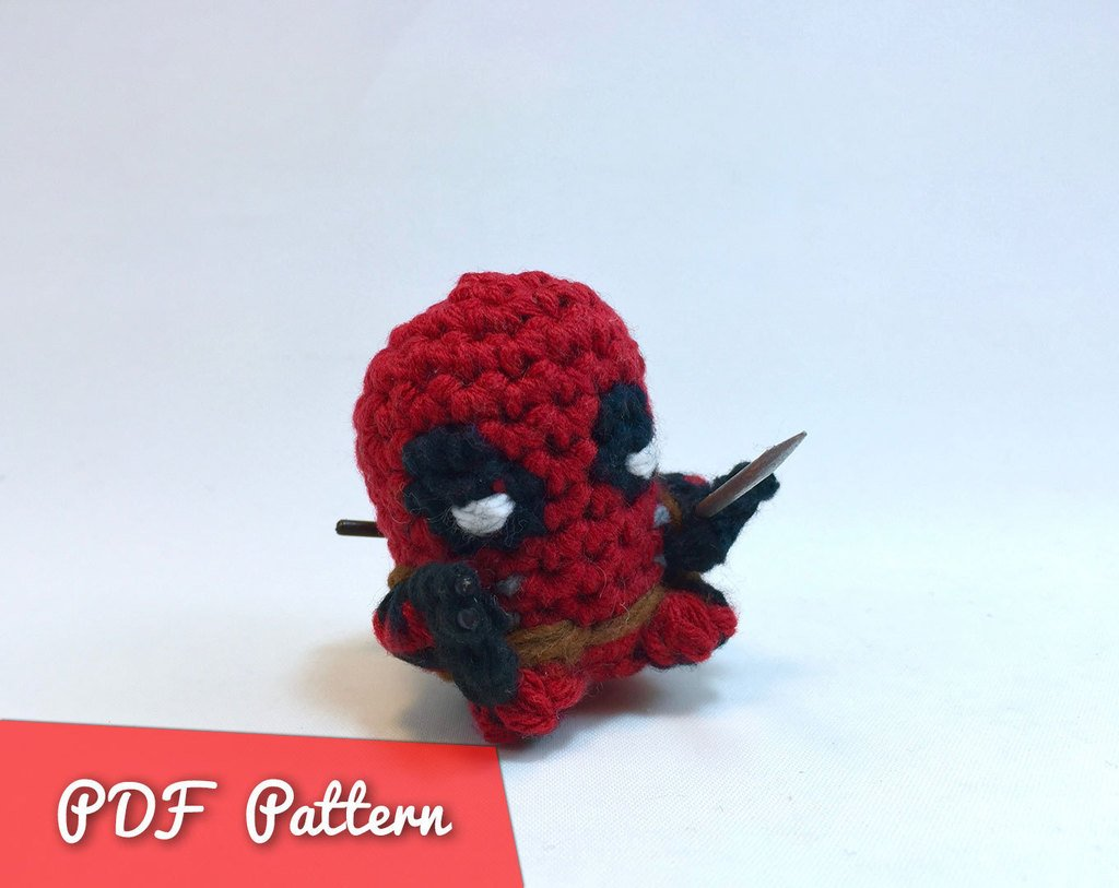 Deadpool Crochet Doll Pattern Crochet dolls Birthday | Etsy | 813x1024