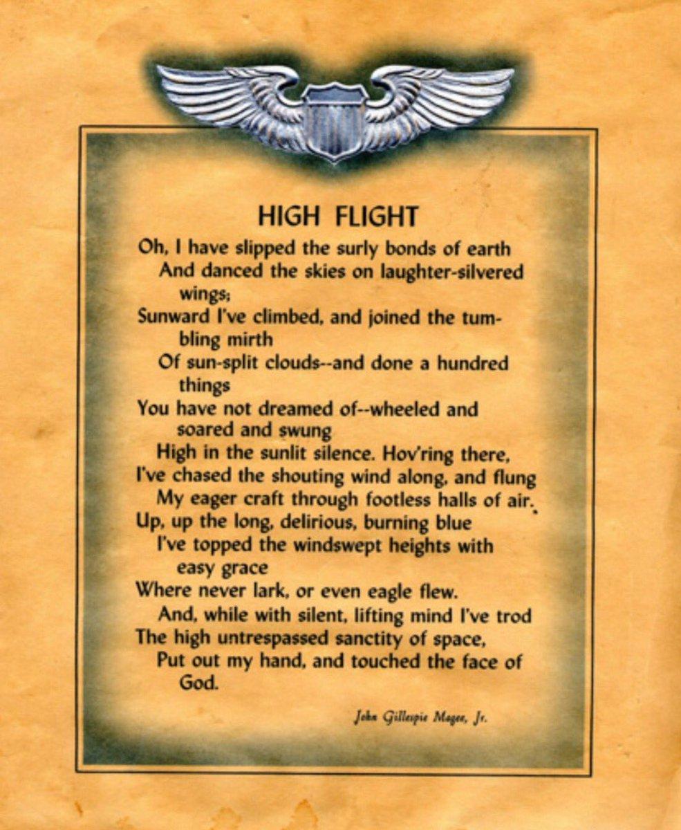 Raf Lakenheath On Twitter World Poetry Day High Flight