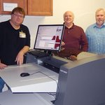 Image for the Tweet beginning: First PlateWriter 3600 Pro installation