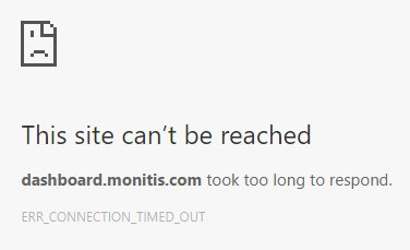@Monitis something wrong with the dashboard right now?  I'm having trouble accessing it. https://t.c
