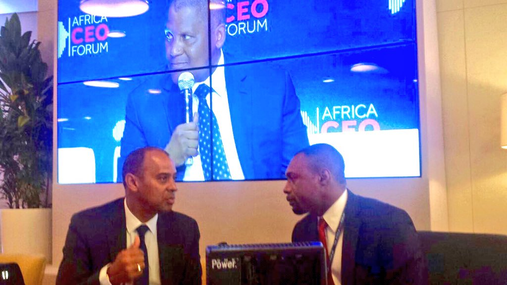 Interviewing Ivorian Minister and former ECOBANK CEO Thierry Tanoh @africaceoforum #ACF2016 in #Abidjan #clubafrica https://t.co/00L499amGq