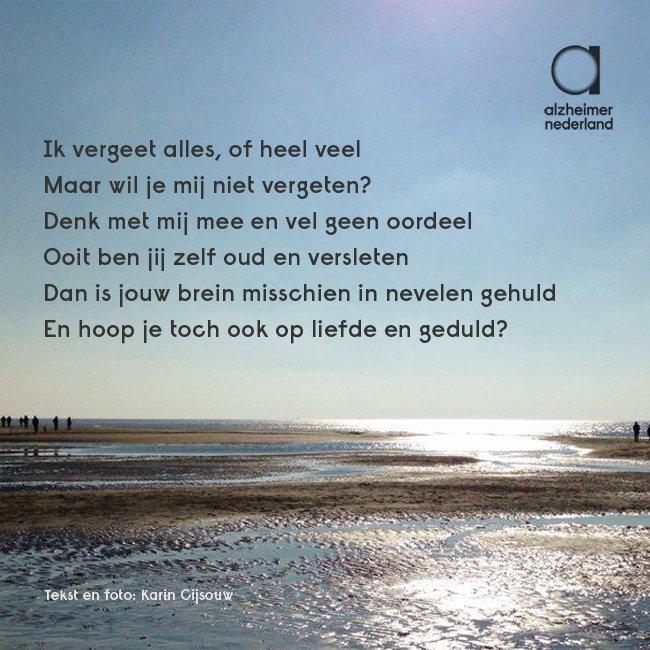 Alzheimer Nederland على تويتر Mooi Gedicht Over Dementie