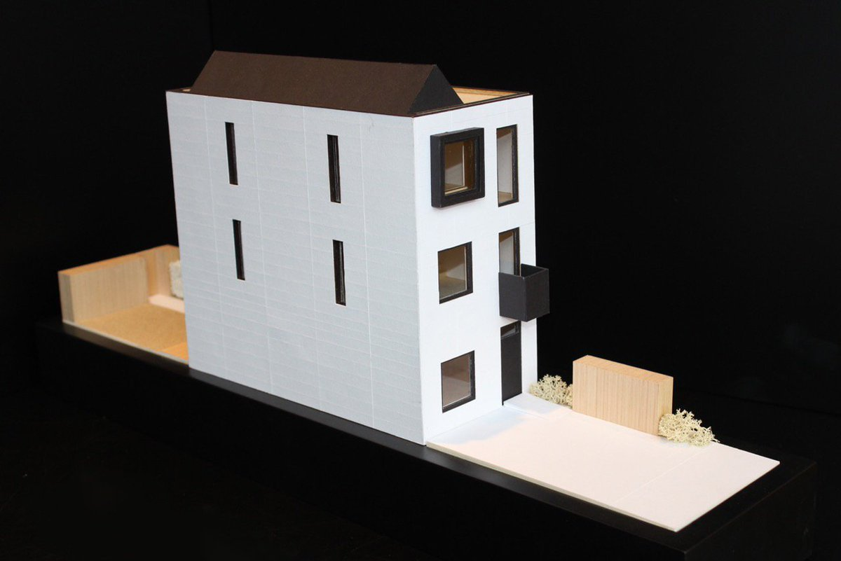 shedkm on twitter time for another modelmakingmonday house in white card black card plywood architectsjrnal craftwork house