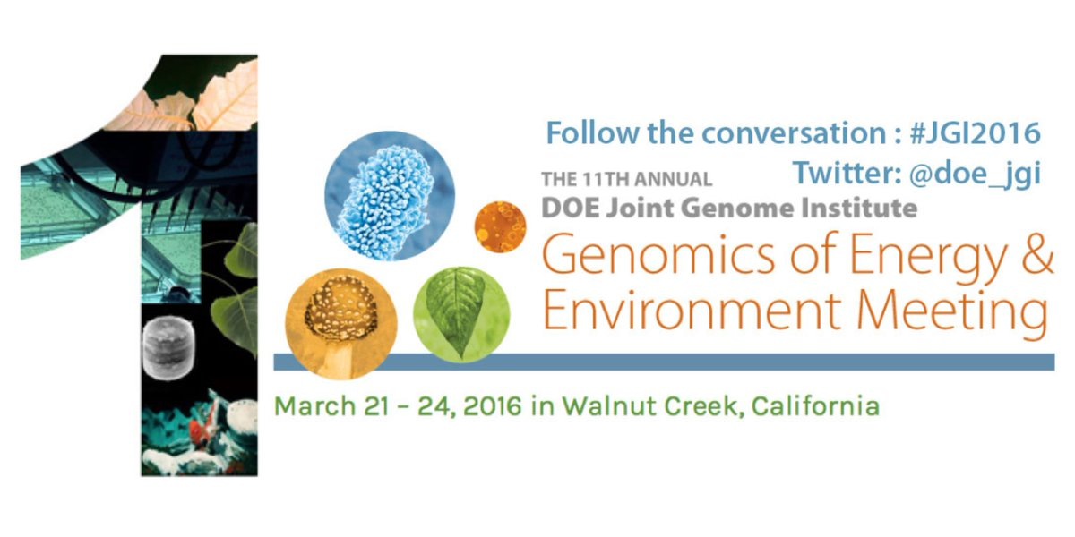 1 day and 6 workshops before our annual #genomics of #energy & #environment mtg start! #JGI2016 https://t.co/XIUVBP0JXJ