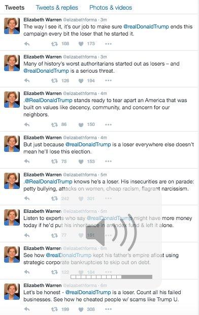 .@elizabethforma is unleashing on @realDonaldTrump right now https://t.co/bRZTJKvKSB