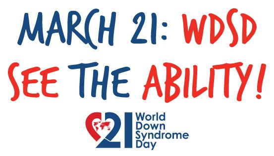 Today is World Down Syndrome Day. Celebrating the abilities of all people. #WDSD16 https://t.co/Cd9rwm7sSb