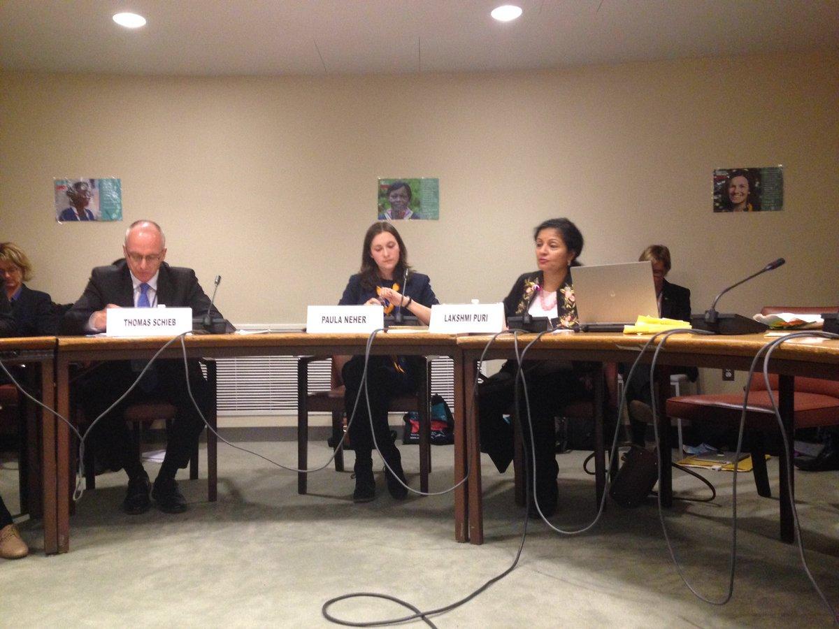 """""""Prevention is always better than cure"""" Lakshmi Puri @UN_Women #CSW60 /OH https://t.co/RMmpSCxQcV"""