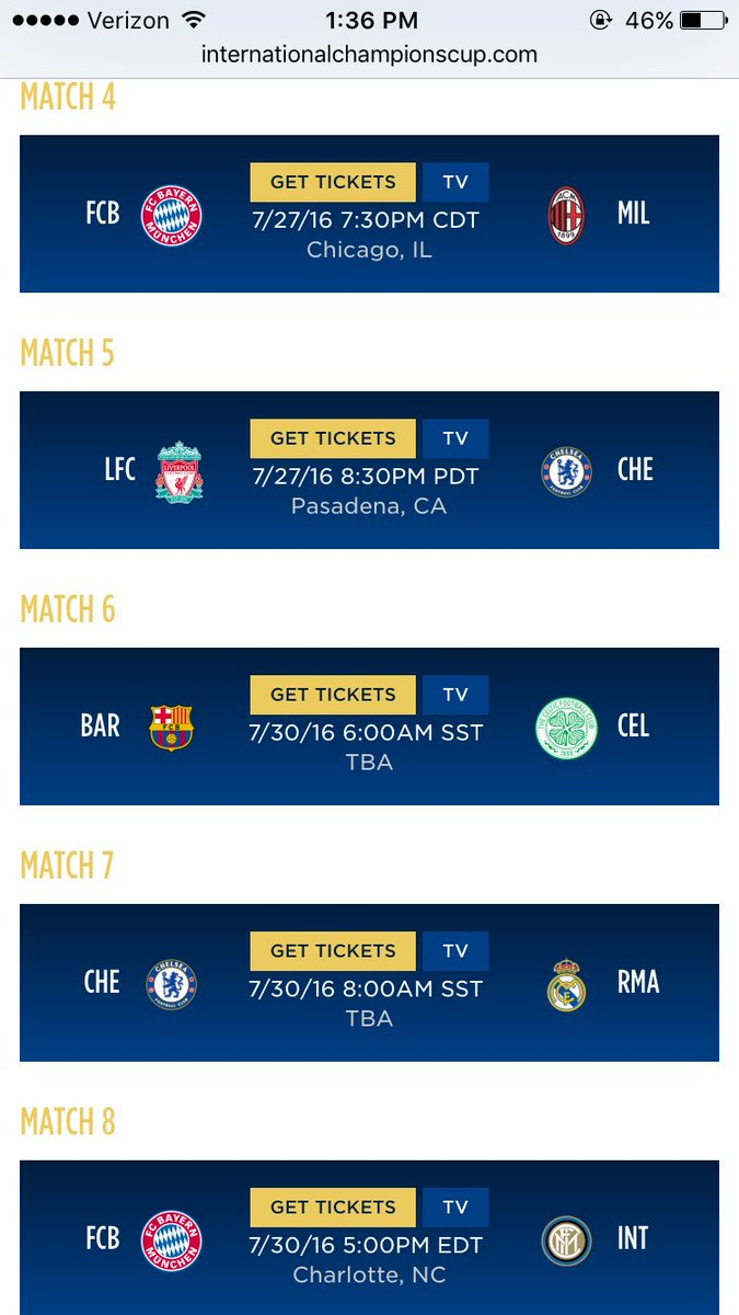 Leaked Chelsea Amp Liverpools International Champions Cup