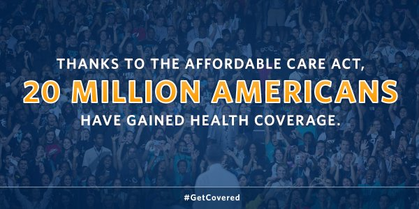 A2: Thanks to the #ACA, 20M Americans have gained coverage. That's historic progress. #MillennialMon https://t.co/ARXIghNgP4