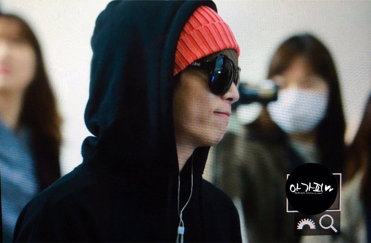 160322 Jonghyun @ Aeropuerto Gimpo {Rumbo a Japón} CeG_BwWUYAQBM2E
