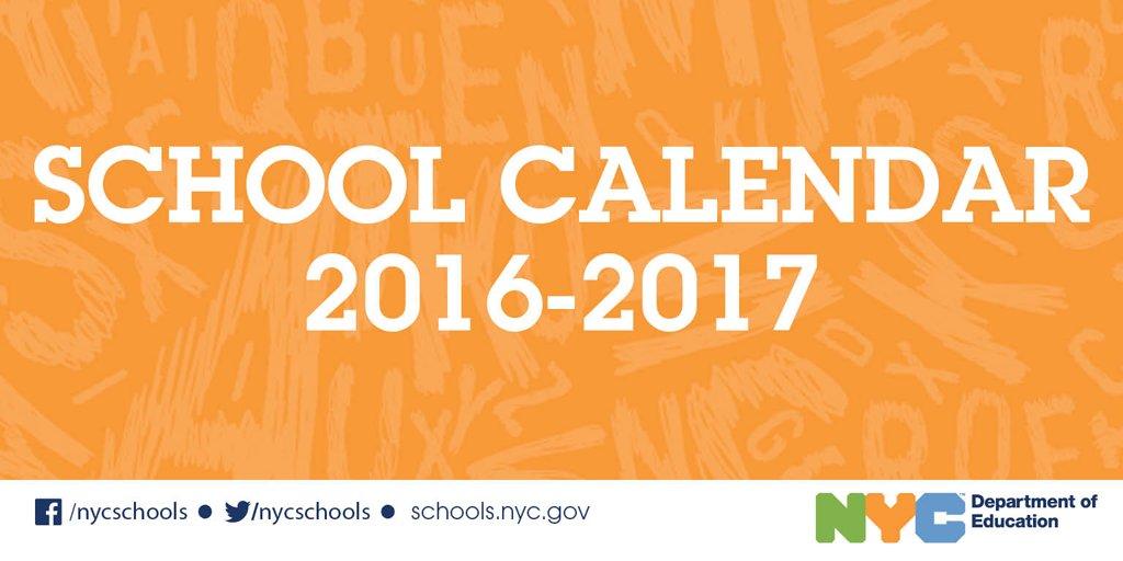 Nyc Doe School Calendar.Nyc Public Schools On Twitter New 2016 17 School Calendar Is