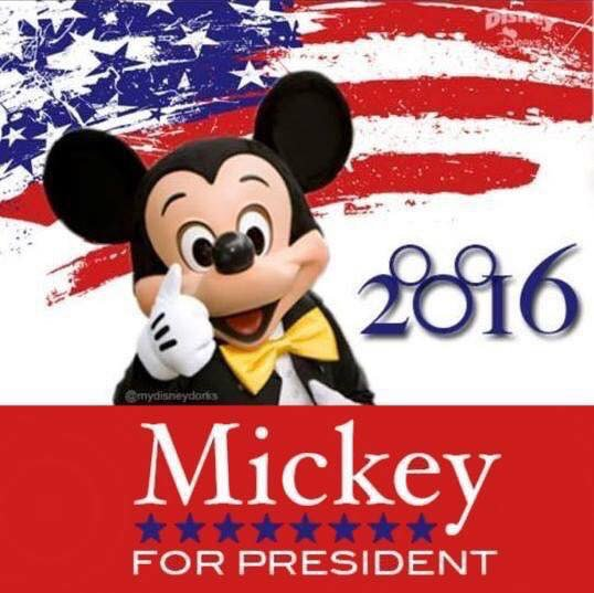 Image result for Write-In-Vote Option for President mickey mouse