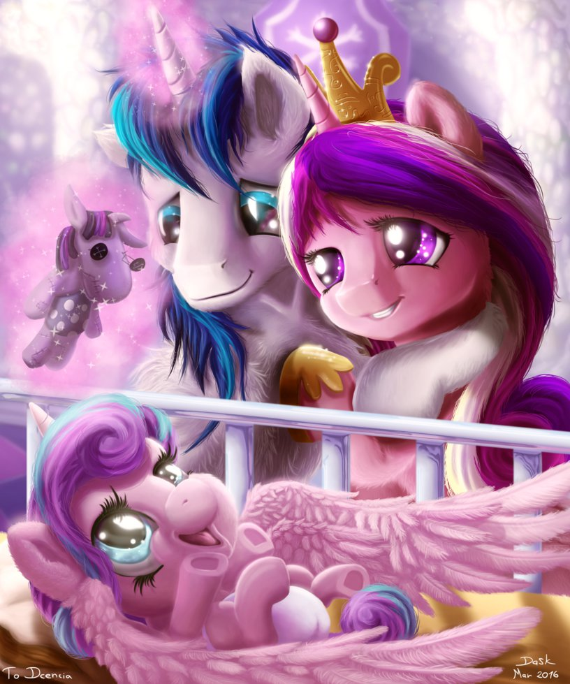 Hypebeast Wolf Chris On Twitter Good Evening And Tonight Picture Night Begins Princess Cadence Shining Armor Flurry Heart Brony MLPSeason6