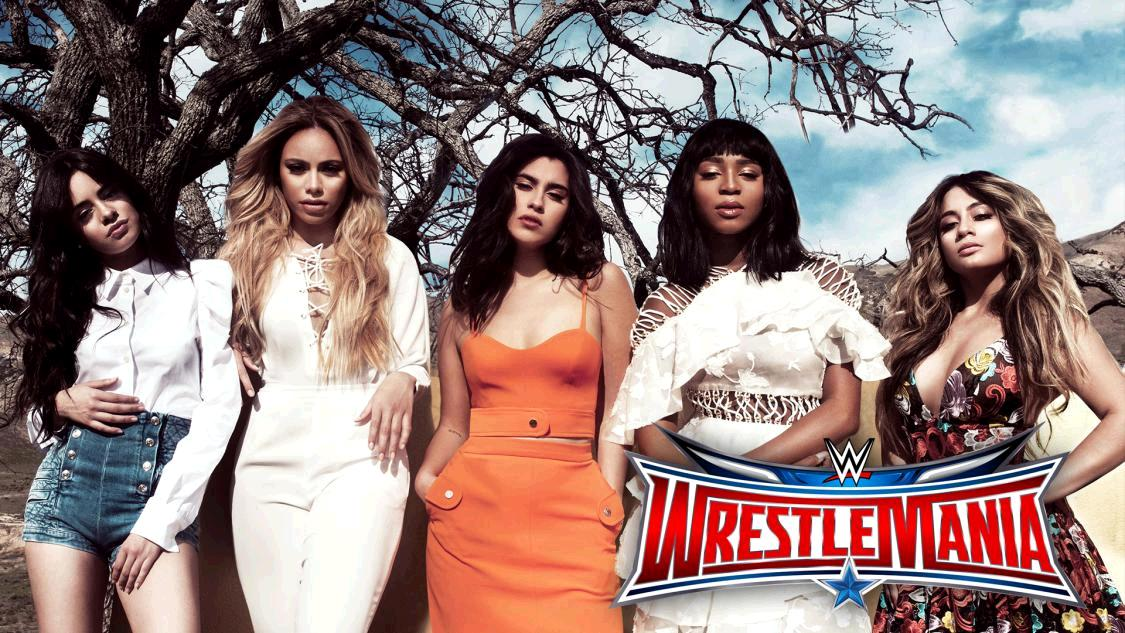 .@FifthHarmony will perform #AmericaTheBeautiful at @WrestleMania April 3 on @WWENetwork! https://t.co/SVEVpeXymH https://t.co/UjAO2o08lJ