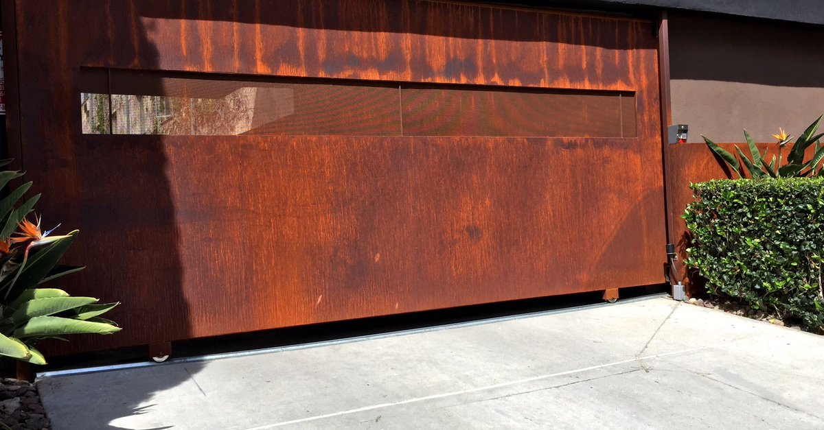 Mossdesign On Twitter Striking Patina On Sandiego Corten