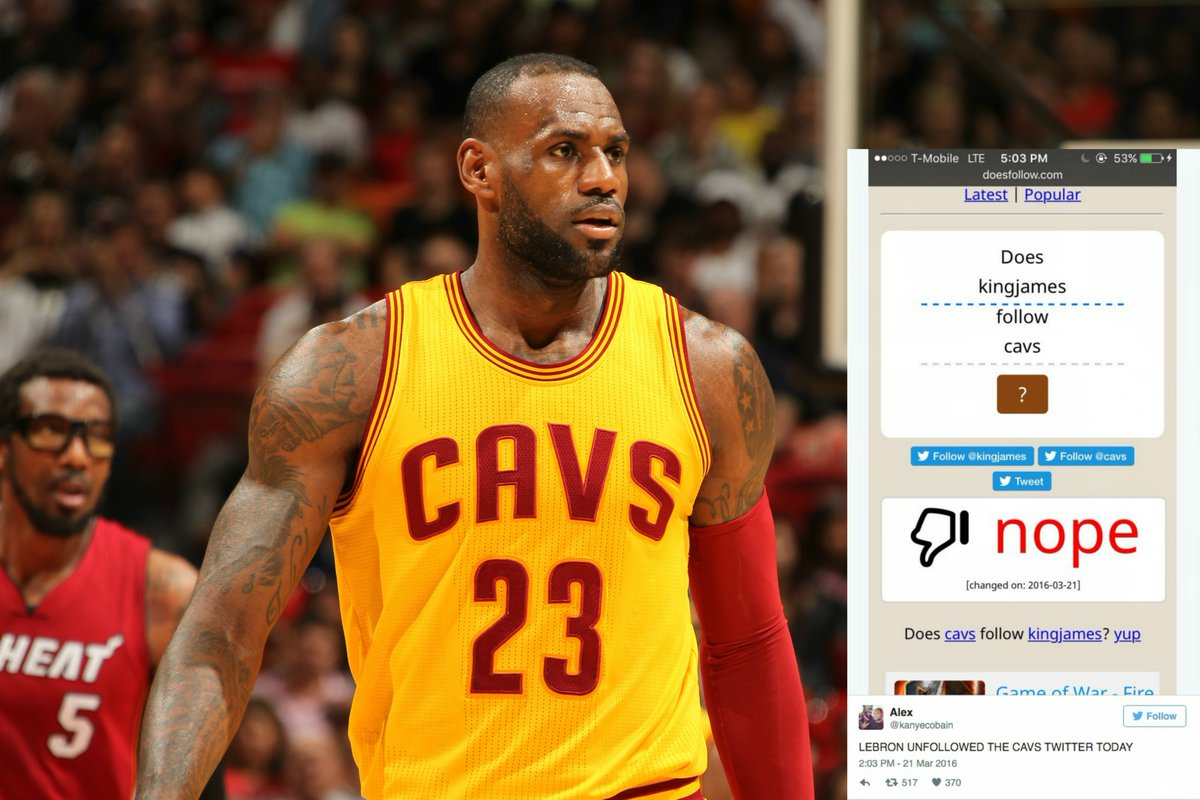 23535cc8d3a So…it looks like lebron james unfollowed the cavs on twitter and instagram