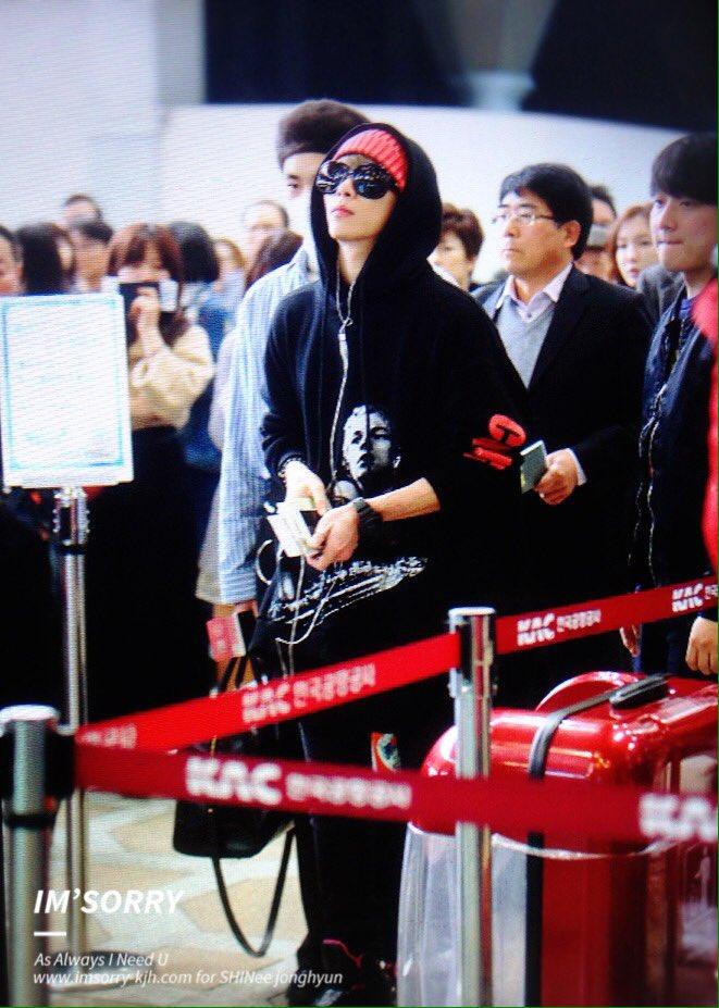 160322 Jonghyun @ Aeropuerto Gimpo {Rumbo a Japón} CeHDSNiUIAAg6gA