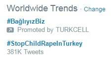 While Turkey is outraged over rape cases involving kids, Zarrab is arrested in the US. Turkcell buys a twitter trend https://t.co/nHt3slglut