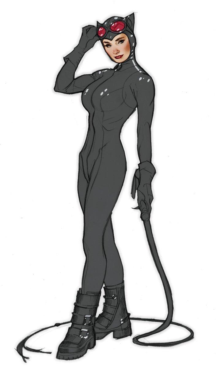 adam hughes on twitter quotunused catwoman statue design