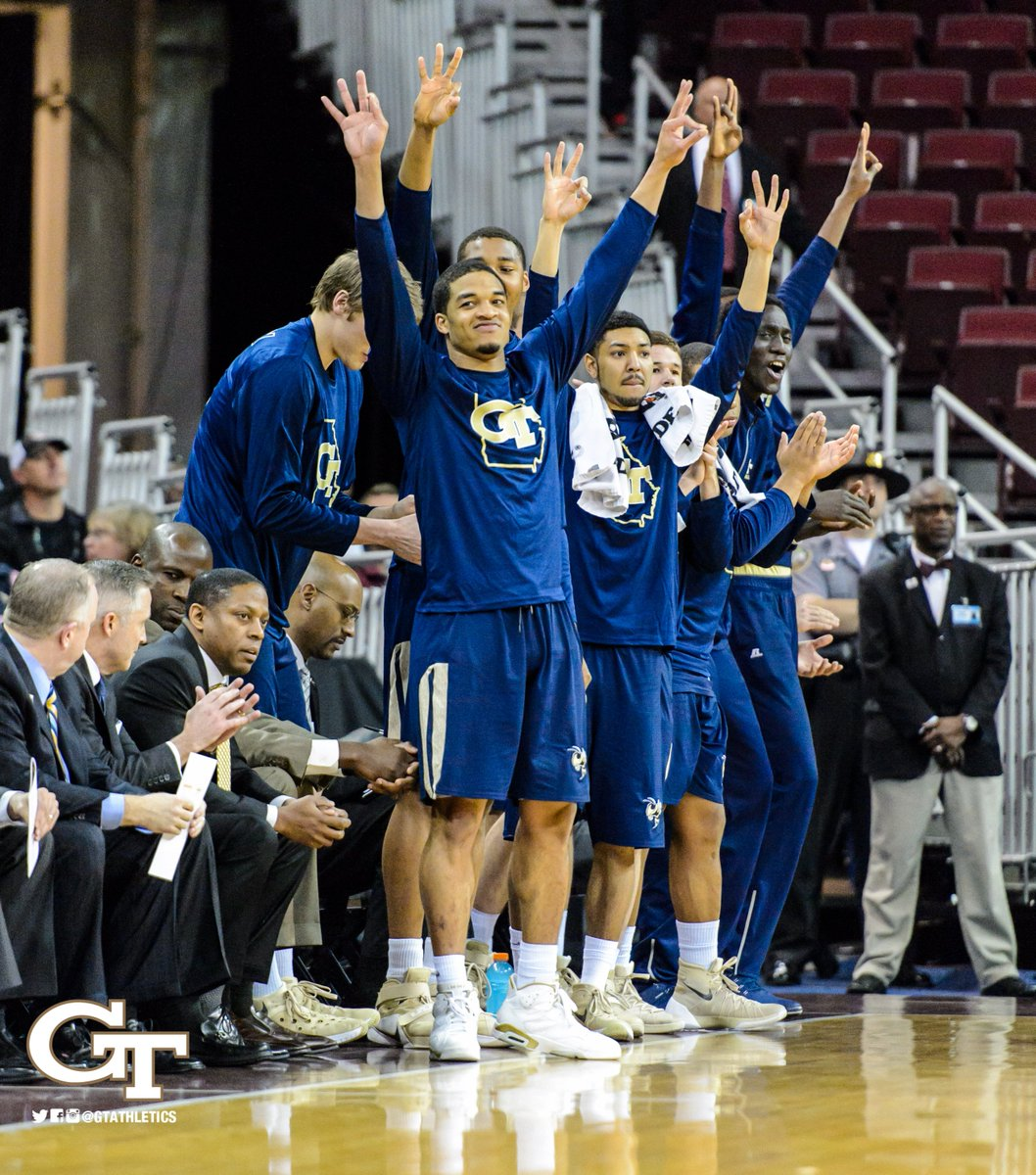TOTAL DOMINATION! Jackets ADVANCE in #NIT with 83-66 win over Gamecocks! We're heading WEST! #TogetherWeSwarm https://t.co/qpXMd8hLWY